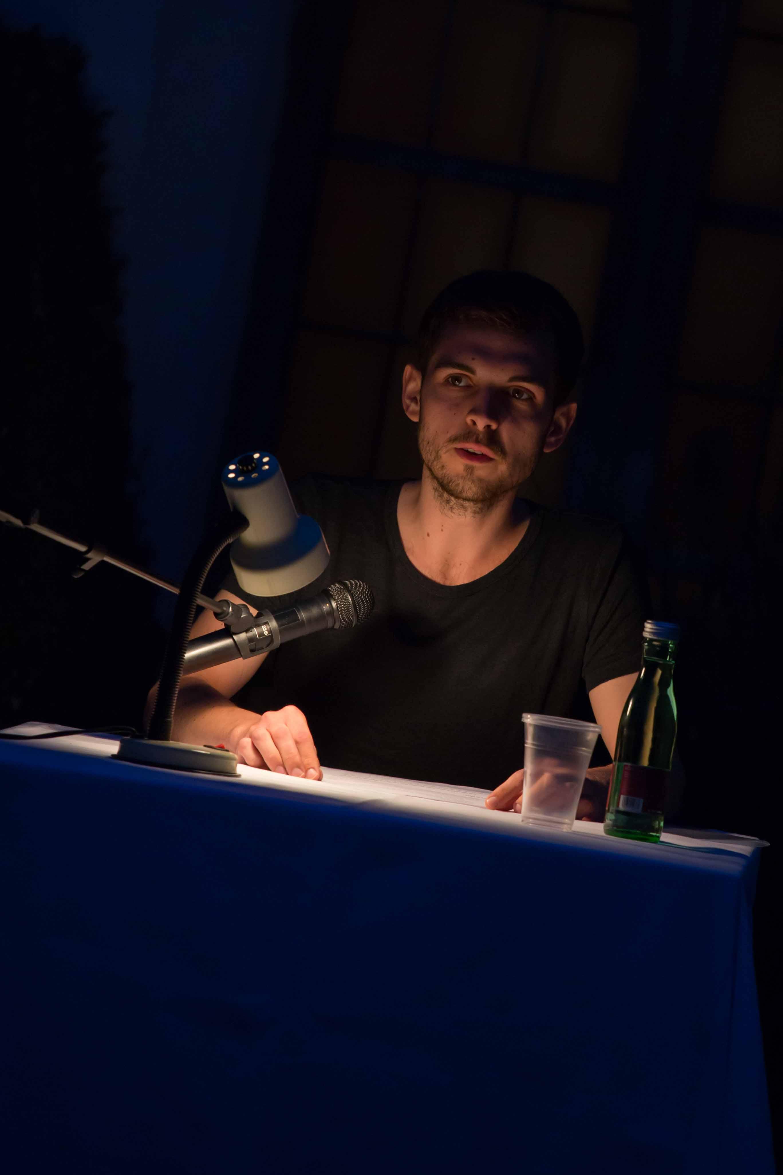 Thomas Kodnar bei Kafka Remixed (Foto von Albert Blazek)